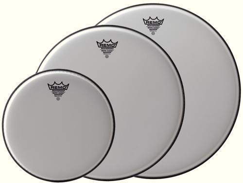 Schlagzeugfell Emperor White Suede 15 Zoll
