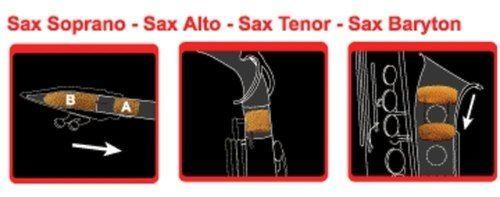 Dämpfer Sopran-Saxophon mit 2 S-Bögen