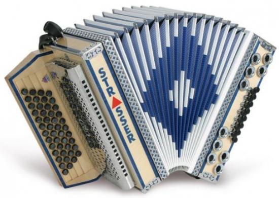 Steirische Harmonika De-luxe-E blau