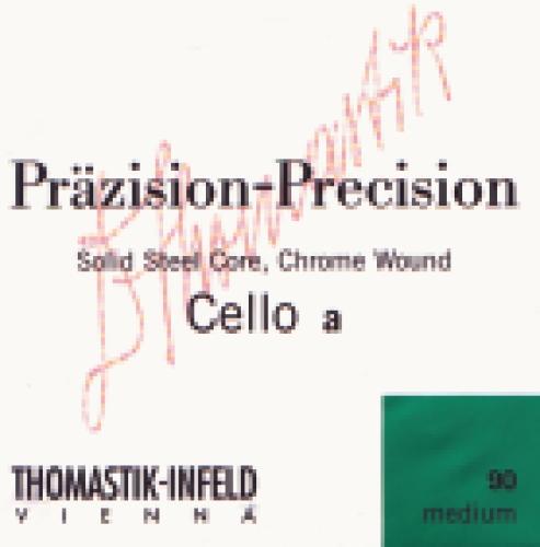 Saiten für Cello Präzision Stahl Vollkern Mittel