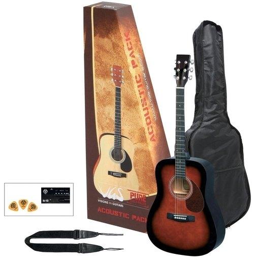 Akustikgitarren-Set Violinburst