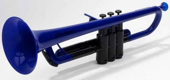Kunststoff-Trompete Blau