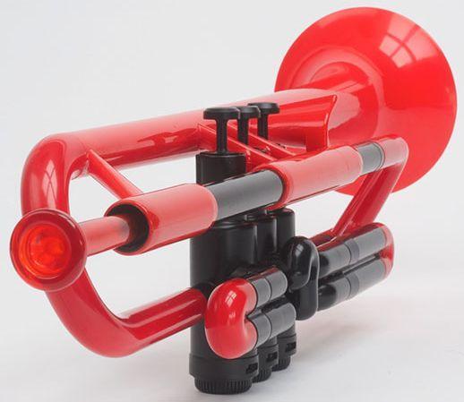 Kunststoff-Trompete Rot