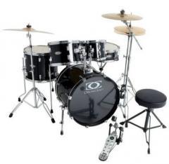 Fusion-2 Drumset-Bundle Jack-Black Gewa