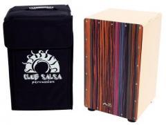 Cajon Club Salsa Zebrano Design bunt Gewa