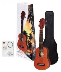 Ukulele Player-Pack rotbraun Almeria