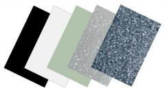 Schlagbrett-Kunststoffplatten pearl-white 3-lagig Partsland