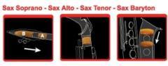 Dämpfer Sopran-Saxophon mit 2 S-Bögen Saxmute