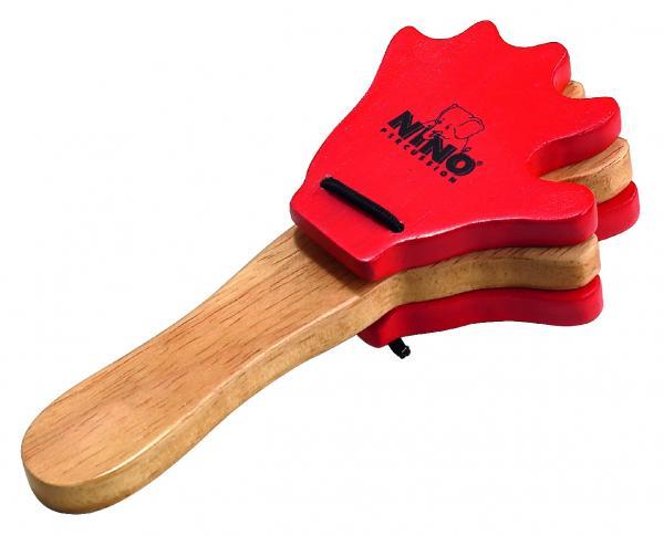 Handkastagnette Holz Rot